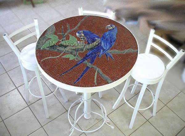 Mesas em mosaico imagui for Mesas de mosaico